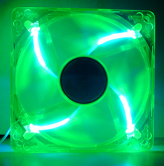 120mm UV Fan (Silent/LED) - UV Green
