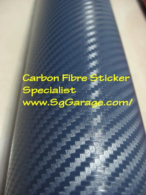 Blue Carbon Fibre Sticker