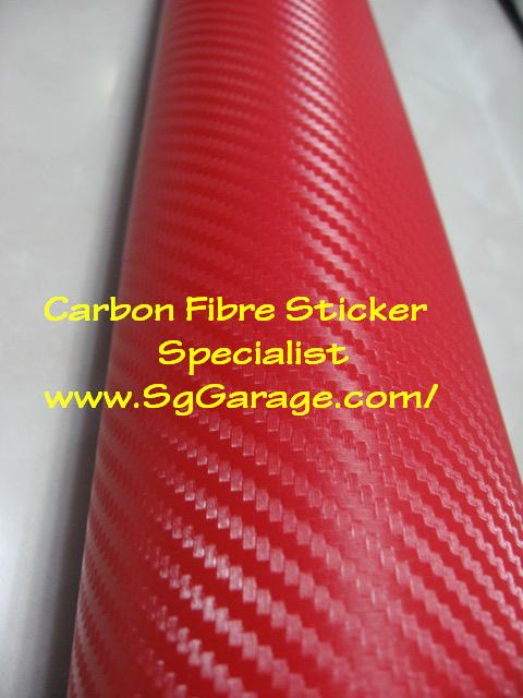 Red Carbon Fibre Sticker