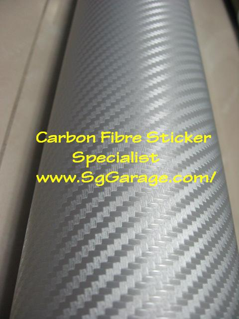 Silver Carbon Fibre Sticker