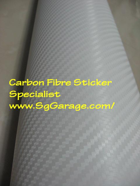 White Carbon Fibre Sticker