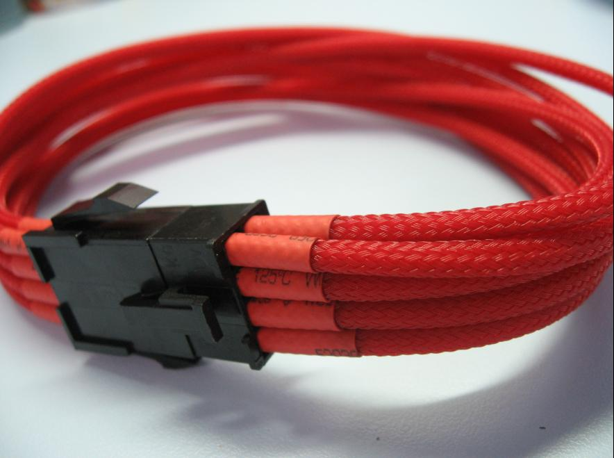 (PSU to Mobo)6 Pins Uni-Sleeved PCIE Extension Cable -Red/30cm