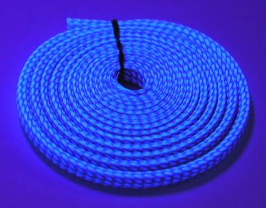 12mm UV WIRE SLEEVE (10metres) -Pepsi Blue