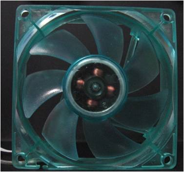 80mm UV Fan (High speed/Non LED) -UV Blue